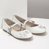 Skórzane baleriny dziewczęce zkryształkami mini-b, biały, 324-1253 - 26