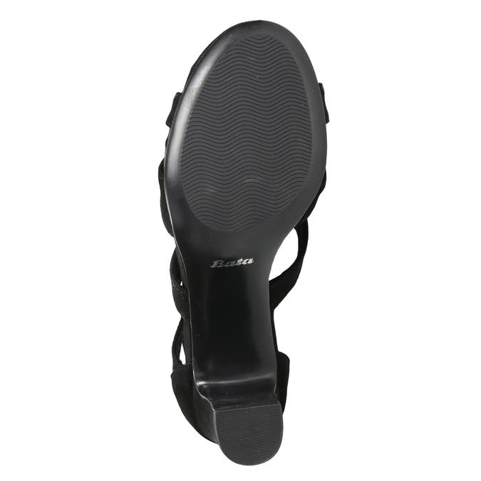 Czarne sandały na stabilnych obcasach insolia, czarny, 769-6617 - 19