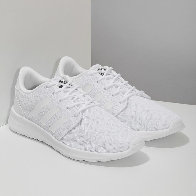 Białe trampki damskie zkoronką adidas, biały, 509-1112 - 26