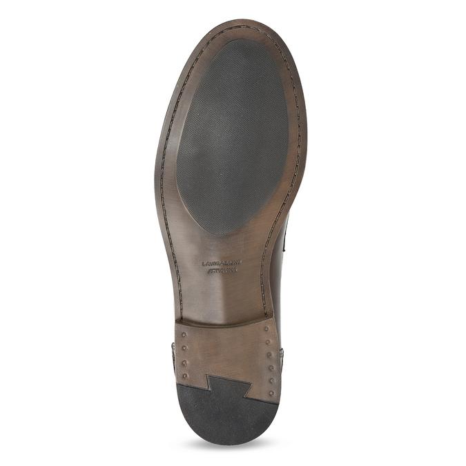 Brązowe skórzane mokasyny męskie bata, brązowy, 814-4128 - 18
