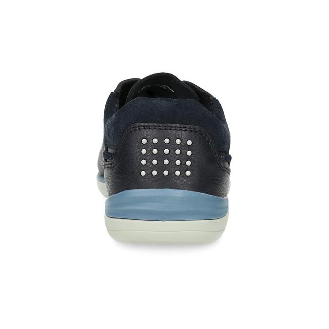 Granatowe skórzane trampki męskie tbs, niebieski, 826-3053 - 15