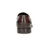 Brązowe skórzane mokasyny męskie bata, brązowy, 814-4128 - 15