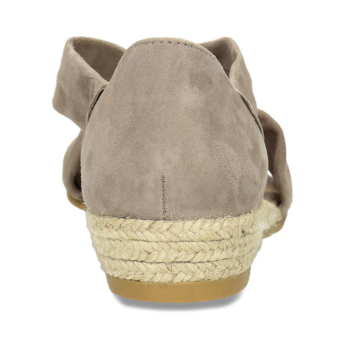 Skórzane sandały na koturnach bata, brązowy, 563-4600 - 15