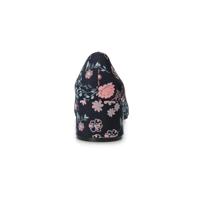 Czółenka wkwiaty na niskich obcasach bata-red-label, niebieski, 629-5640 - 15