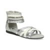 Biało-srebrne sandały dziewczęce mini-b, srebrny, 361-1605 - 13