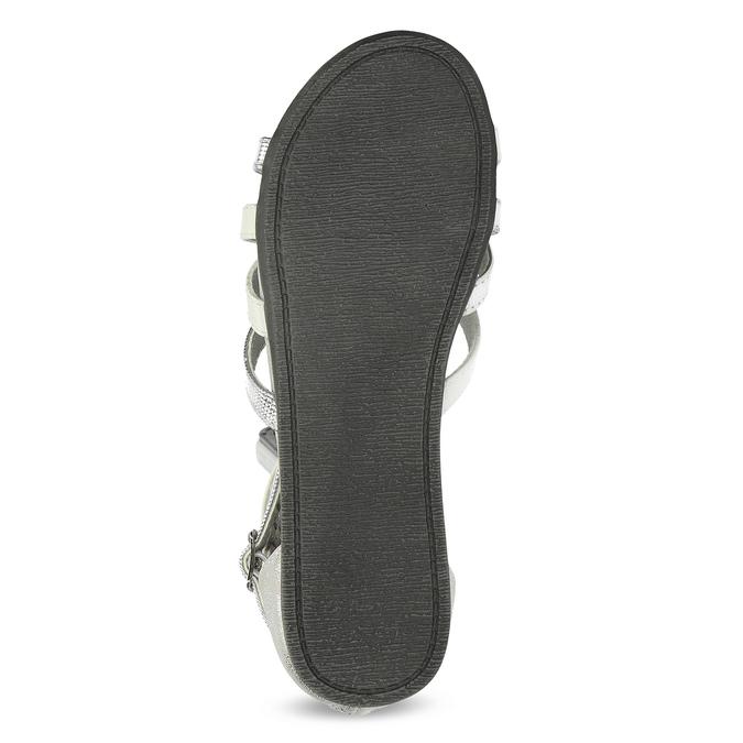 Biało-srebrne sandały dziewczęce mini-b, srebrny, 361-1605 - 18