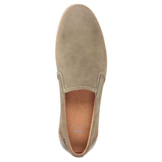 Zamszowe slip-on męskie bata, beżowy, 833-8602 - 15