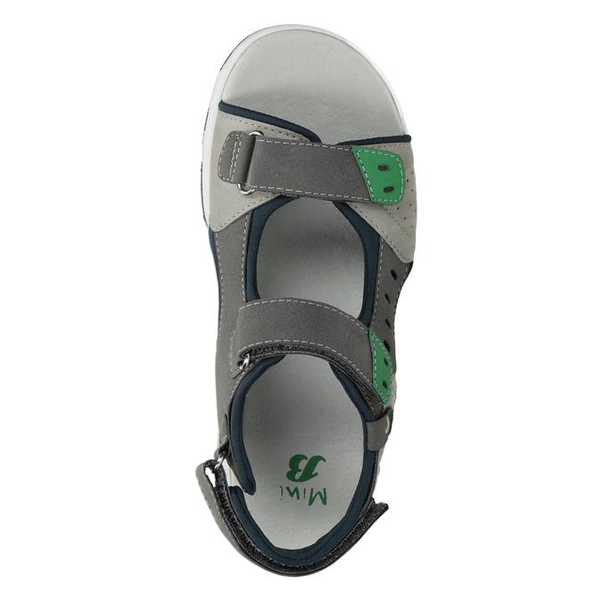 Szare sandały chłopięce wsportowym stylu mini-b, szary, 461-2607 - 17
