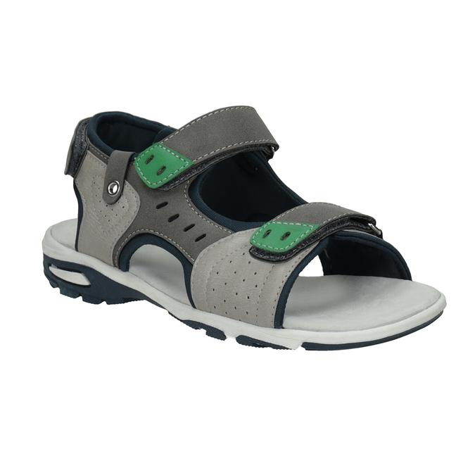 Szare sandały chłopięce wsportowym stylu mini-b, szary, 461-2607 - 13