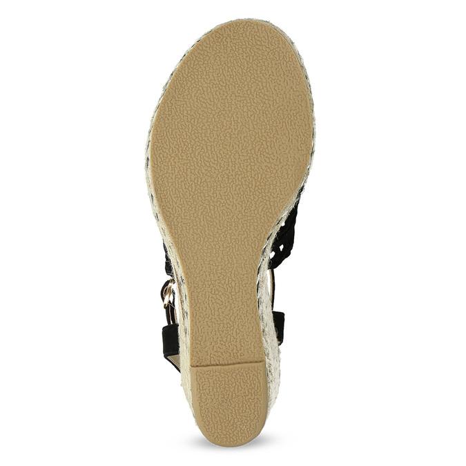 Czarne wyplatane sandały na platformie bata, czarny, 759-6633 - 18