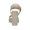 Sandały na grubych słupkach flexible, beżowy, 761-2616 - 15