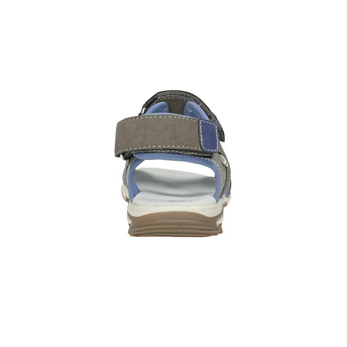 Szaro-błękitne sandały chłopięce zzapięciami na rzepy mini-b, brązowy, 261-3608 - 15