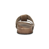 Jasnobrązowe skórzane klapki męskie bata, brązowy, 866-3639 - 15