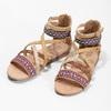 Sandały zpaskami wstylu etno bullboxer, beżowy, 361-8611 - 16