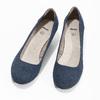 Skórzane czółenka oszerokościH bata, niebieski, 623-9602 - 16