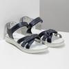 Granatowe sandały dziewczęce zkryształkami mini-b, niebieski, 361-9612 - 26