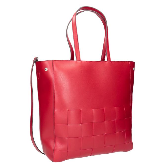 Przestronna czerwona torba zprzeplatanymi pasami bata, czerwony, 961-5236 - 13