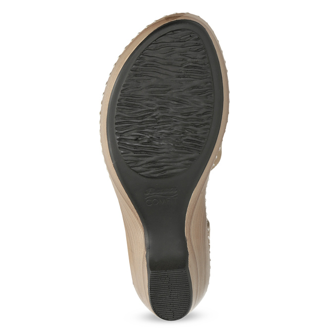 Beżowe sandały zkwiatkiem, beżowy, 661-8613 - 18