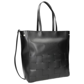 Czarna torebka zprzeplatanymi pasami bata, czarny, 961-6236 - 13