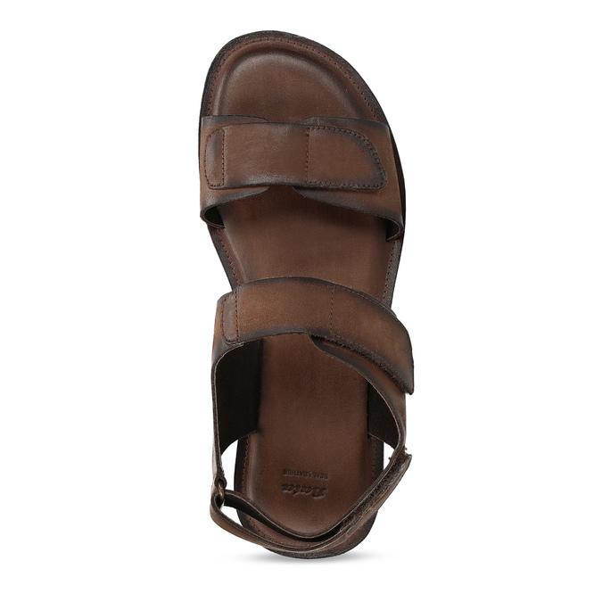 Brązowe skórzane sandały męskie bata, brązowy, 866-4633 - 17