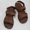 Brązowe skórzane sandały męskie bata, brązowy, 866-4633 - 16