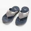 Skórzane japonki męskie ze zdobieniami bata, szary, 866-2845 - 16