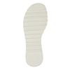 Białe sandały dziewczęce na podeszwie zbieżnikiem mini-b, biały, 361-1613 - 19