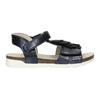 Sandały dziewczęce zfrędzlami mini-b, niebieski, 261-9612 - 16