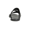 Czarne skórzane klapki męskie ze skrzyżowanymi paskami bata, czarny, 864-6603 - 15