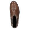 Brązowe skórzane botki damskie typu chelsea vagabond, brązowy, 514-3002 - 17