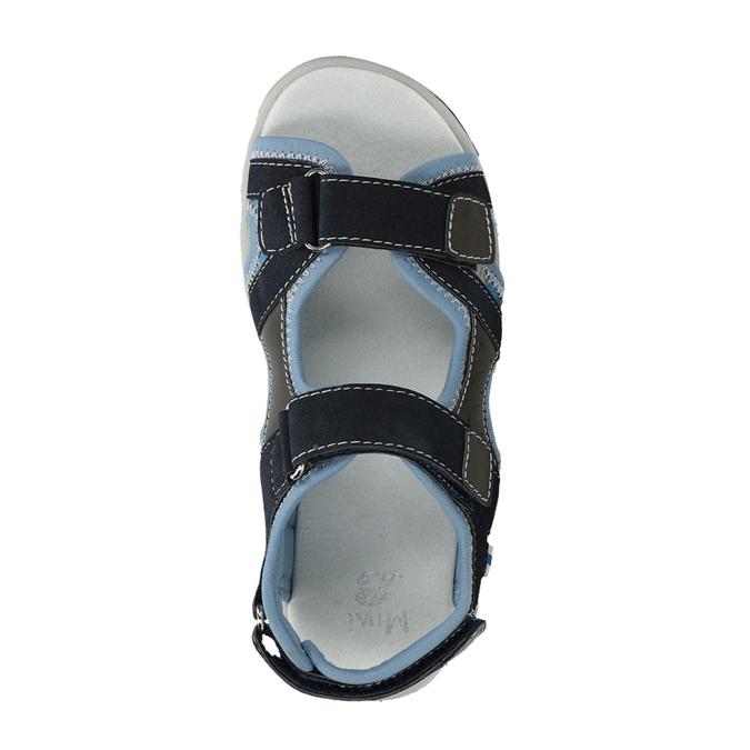 Granatowe sandały chłopięce zzapięciami na rzepy mini-b, niebieski, 261-9608 - 17
