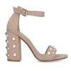 Sandały damskie zperełkami, na słupkach insolia, różowy, 769-5623 - 19