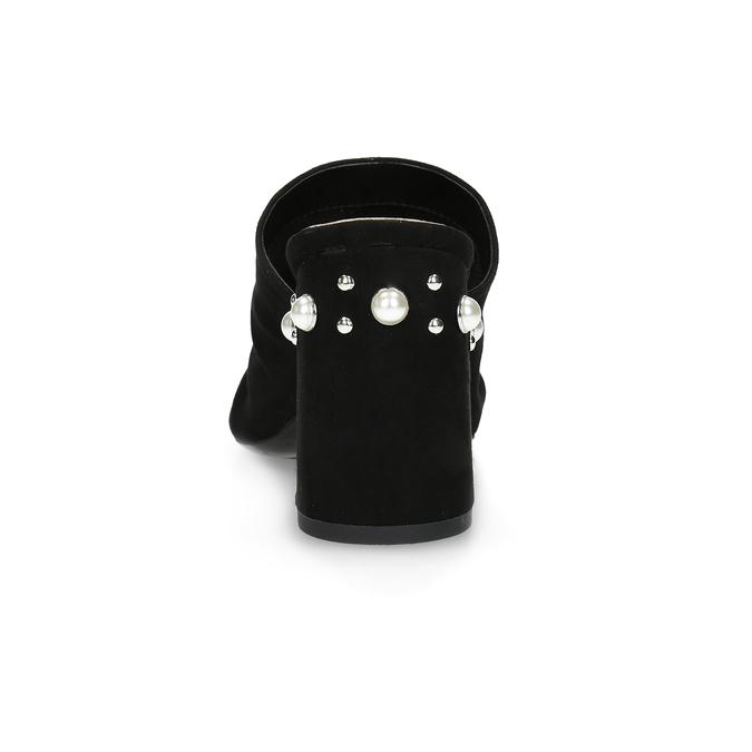Czarne klapki na obcasach zperełkami insolia, czarny, 769-6624 - 15