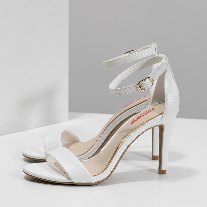 Białe sandały na szpilkach, biały, 661-1610 - 16