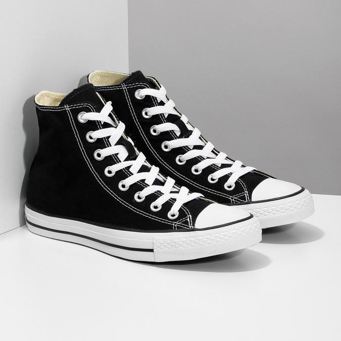 Czarno-białe trampki męskie zgumowymi noskami converse, czarny, 889-6278 - 26