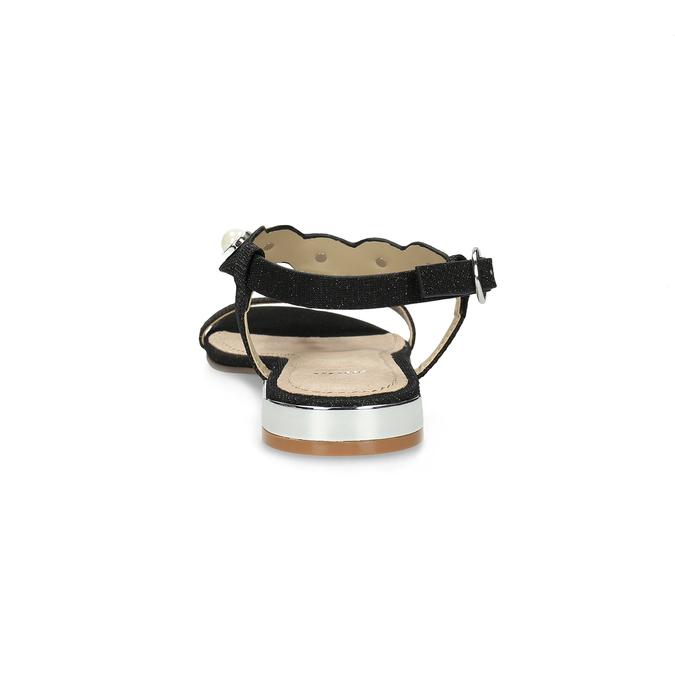 Czarne sandały zperełkami bata, czarny, 569-6606 - 15