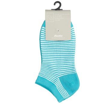 Stopki damskie wniebieskie prążki bata, niebieski, 919-9816 - 13