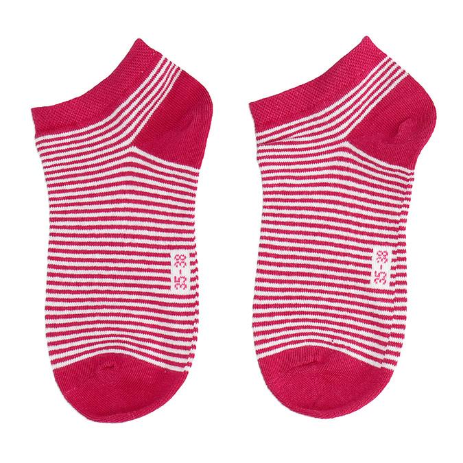 Stopki damskie wczerwone prążki bata, czerwony, 919-5816 - 26