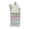 Długie szare skarpetki damskie wpaski bata, szary, 919-2811 - 13