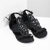 Sandały damskie zkryształkami bata, czarny, 569-6614 - 26
