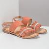 Różowe skórzane sandały damskie zperełkami bata, różowy, 566-5632 - 26