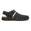 Czarne skórzane sandały męskie zpełnymi noskami bata, czarny, 866-6616 - 19