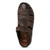 Brązowe skórzane sandały męskie zpełnymi noskami bata, brązowy, 866-4616 - 17
