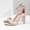 Różowe sandały na szpilkach, różowy, 661-5610 - 16