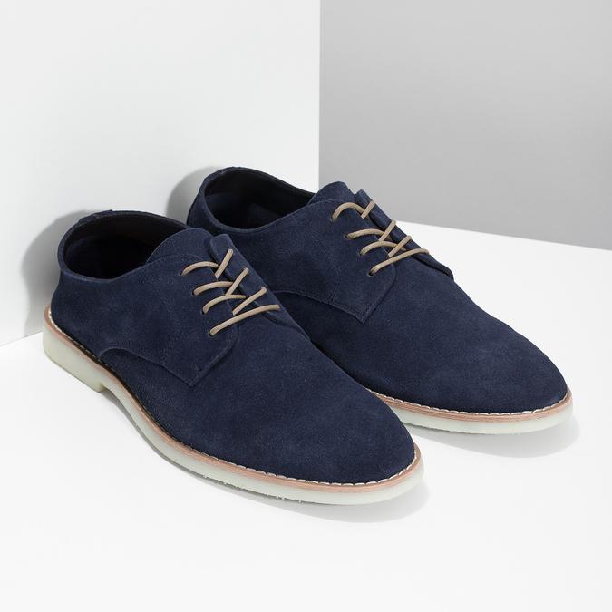 Niebieskie nieformalne półbuty męskie bata-red-label, niebieski, 823-9625 - 26