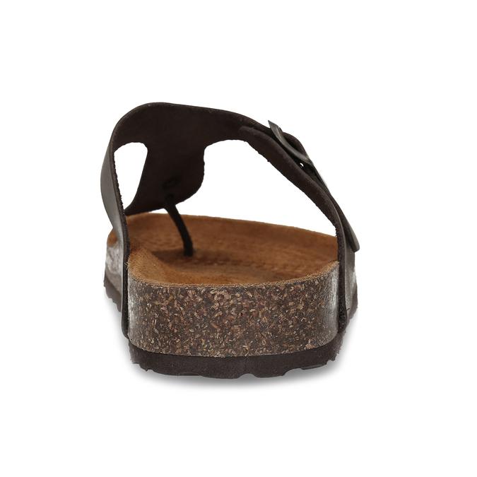 Skórzane japonki męskie bata, brązowy, 866-4848 - 15