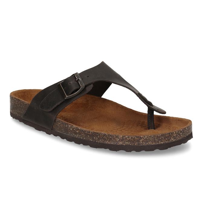 Skórzane japonki męskie bata, brązowy, 866-4848 - 13