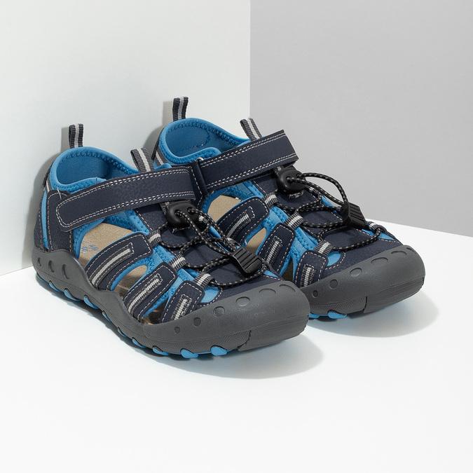 Granatowe sandały dziecięce mini-b, niebieski, 461-9606 - 26