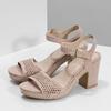 Sandały na grubych obcasach, zkryształkami insolia, różowy, 669-8624 - 16