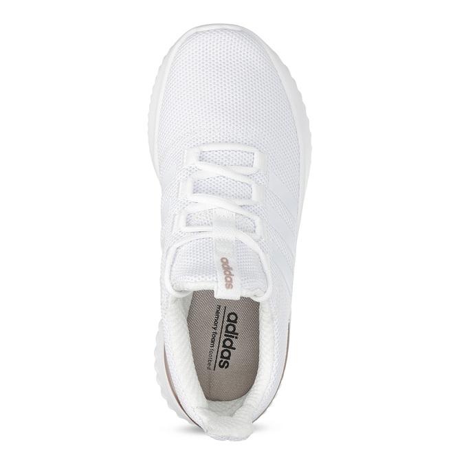 Białe trampki ze złotymi elementami adidas, biały, 509-1579 - 17